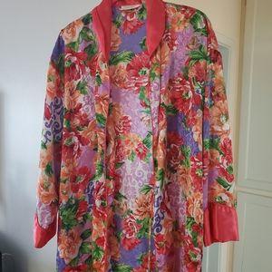 Vintage Victoria's Secret Bold Floral Robe